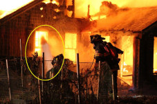 Ghost Spotted In The Flames Of A Centerville Home