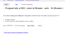 Cape Cod Craigslist Ad Of The Day - Missed Connection, Pregnant Lady In Hyannis