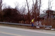 Breaking News: Photos Of Mass DOT On Scene At Miles Tibbett's Ghost Bike Memorial In Wellfleet