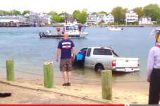 Dude Drives Truck Off Chappy Ferry Ramp Into Edgartown Harbor