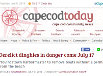 """Fun With Semantics - Provincetown To Remove """"Derelict Dinghies"""" From Beaches"""