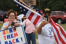 Protestors Gather At Otis Rotary Because They Hate Orphan Children