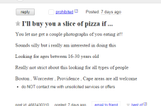 Cape Cod Craigslist Ad Of The Day - Free Pizza!