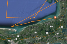 Katharine The Great White Hit Sandy Neck, Dennis, Brewster and Orleans Yesterday
