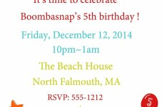 Boombasnap's 5th Birthday Bash Tonight At The Beach House!