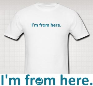 i'm from here shirt side