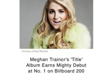 Meghan Trainor's Album Debuted At Number 1 #megatronz4life #capekidzkillinit
