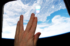 Mr. Spock Tribute From The Space Station With Cape Cod In The Background