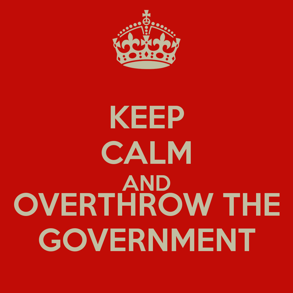 Image result for overthrow government