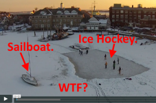 VIDEO: Playing Ice Hockey On A Salt Water Harbor In Woods Hole... Wait, What?