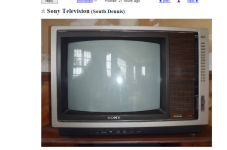 Cape Cod Craigslist Ad Of The Day - State Of The Art Sony Television