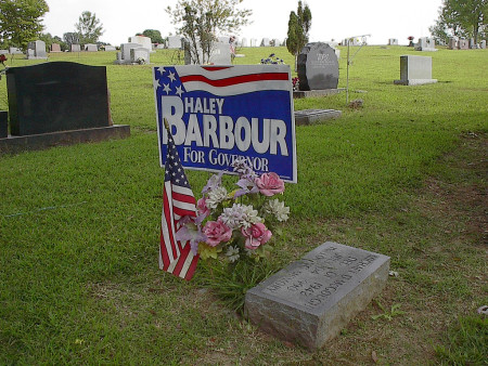 political signs cemeteries